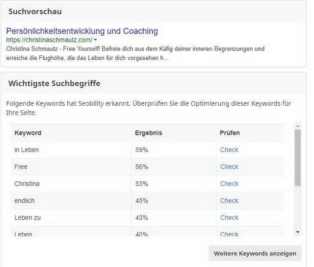 SEO Keywords ChristinaSchmautz