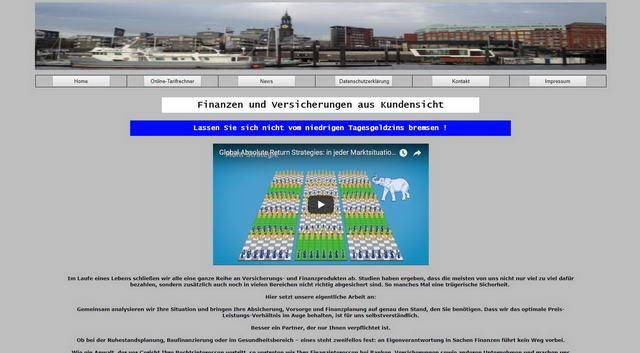 Versicherungsmakler Homepage