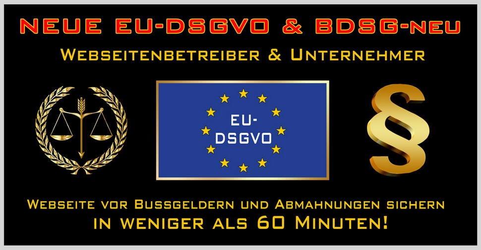 EU Datenschutzgrundverordnung 2018 & BDSG-neu ab 25.05.2018