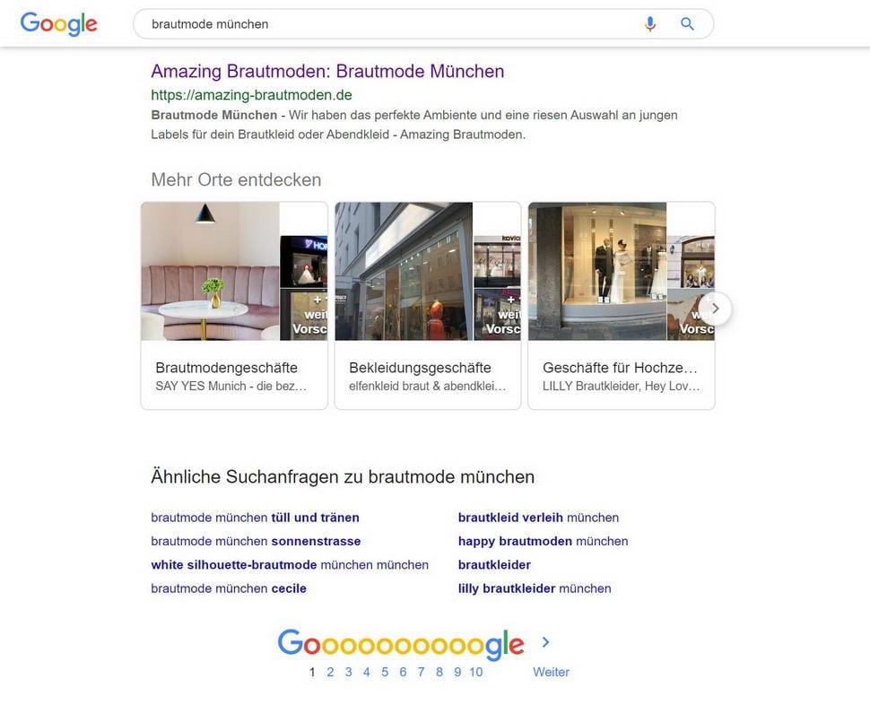 Seite 1 bei Google erreicht