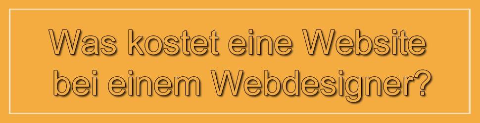 Was kostet eine Website bei einem Webdesigner