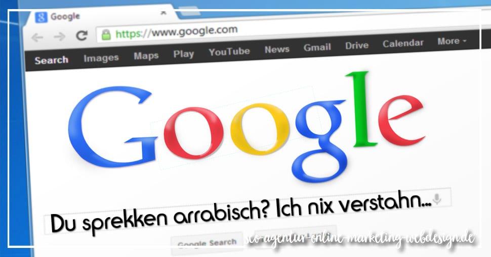 Schlechtes Google Ranking